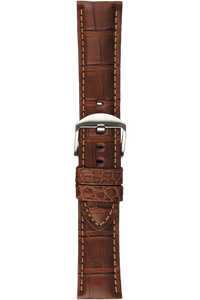 24 mm Chestnut Alligator Strap