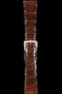 17 mm Chestnut Alligator Strap