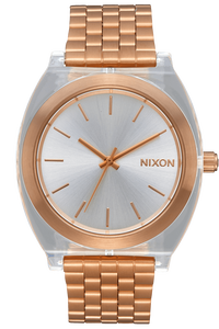 Time Teller Acetate, Rose Gold / Clear