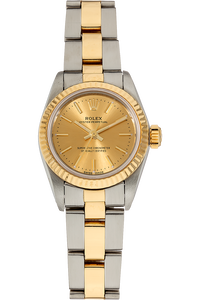 Oyster Perpetual Circa 1985 Yellow Gold and Stainless Steel Automatic