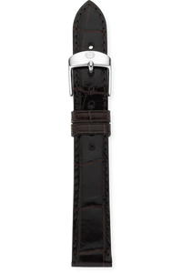 16MM Espresso Alligator Strap