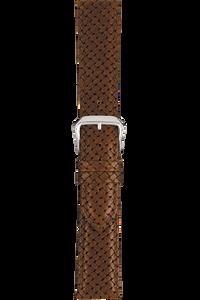 18 mm Tan Basketweave Grain Leather Strap