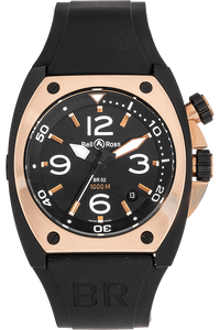 BR 02 Rose Gold and DLC Stainless Steel Automatic