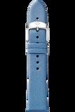 16MM Smokey Blue Thin Saffiano Strap