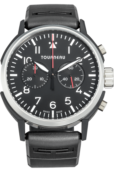 TNY 44mm Aviator Chronograph in Stainless Steel and DLC