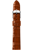 16MM Coffee Thin Alligator Strap