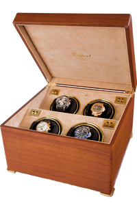 Perpetua II Satin Walnut Quad Watch Winder