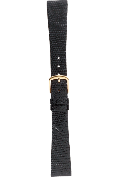 18 mm Black Lizard Strap