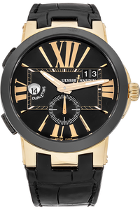 Executive Dual Time Rose Gold and Ceramic Automatic