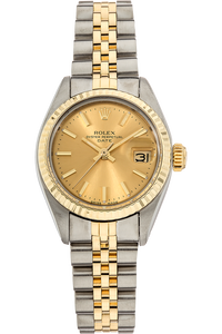Date Circa 1977 Yellow Gold and Stainless Steel Automatic