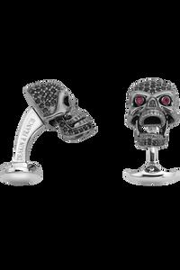 Black Spinel Skull Cufflinks