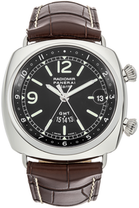 Radiomir GMT Alarm Stainless Steel Automatic
