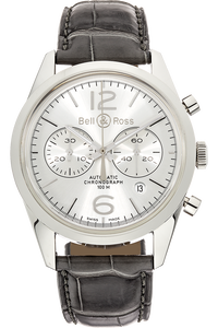 BR126 Officer Silver Stainless Steel Automatic