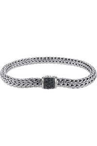 Classic Chain Silver Lava Bracelet