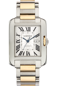 Tank Anglaise Yellow Gold and Stainless Steel Automatic