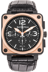 BR 01-94 Chronograph Rose Gold and PVD Stainless Steel Automatic