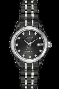 Eco-Drive  Black Ion Plated Corso Watch