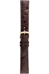 16 mm Brown Caiman Crocodile Strap