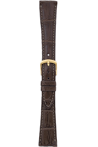 16 mm Brown Alligator Strap