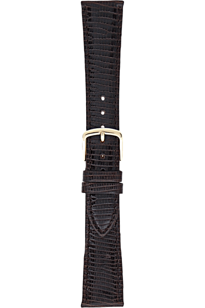 20 mm Dark Brown Leather Strap