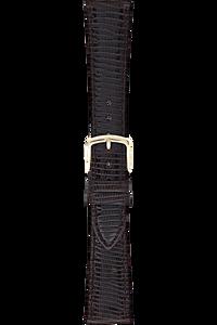 17 mm Dark Brown Leather Strap