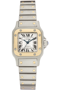 Santos Galbee Yellow Gold and Stainless Steel Automatic