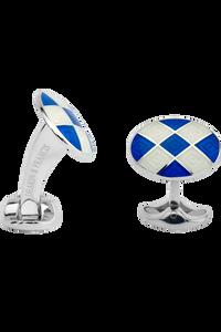 Royal Blue Patterened Enamel Cufflinks
