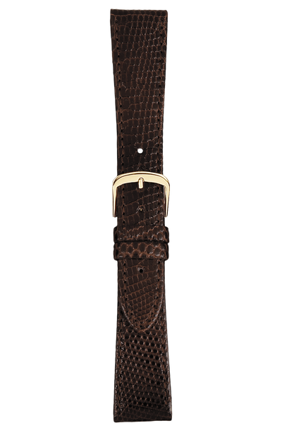 17 mm Brown Lizard Strap