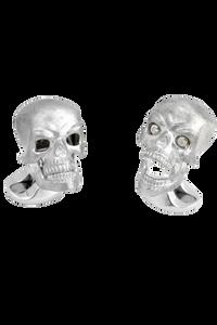 Skull Cufflinks with Diamond eyes