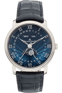 Villeret Complete Calendar Moonphase White Gold Automatic