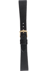 19 mm Black Lizard Strap