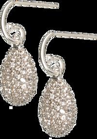 Hope Egg Earrings with White Topaz