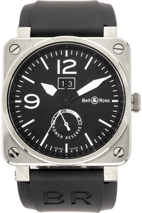 BR 03-90 Grande Date & Reserve Stainless Steel Automatic