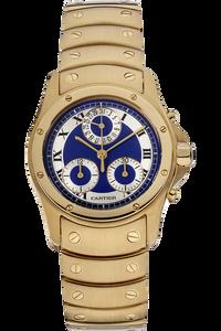 Santos Ronde Chronograph Yellow Gold Quartz