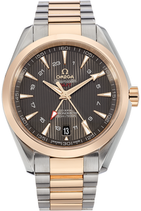 Seamaster Aqua Terra Co-Axial GMT Rose Gold and Stainless Steel Automatic