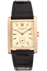 Rectangle Reference 2530 Circa 1950s Rose Gold Manual