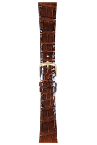 17 mm Chestnut Alligator Strap