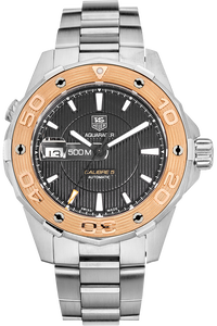 Aquaracer 500M Calibre 5  Rose Gold and Stainless Steel Automatic