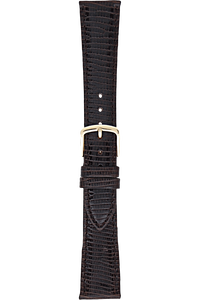 19 mm Dark Brown Leather Strap