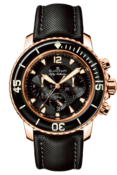 Chronograph Flyback Fifty Fathoms Red Gold