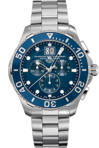 Aquaracer Quartz Chronograph with Blue Aluminum 43mm