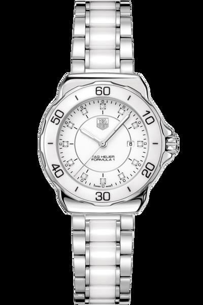 TAG Heuer FORMULA 1 Lady Steel & Ceramic Diamond Dial White