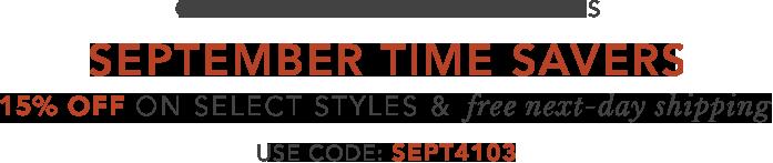 Certified Pre-Owned September Picks, 15% off  Enter Promo code SEPT4103