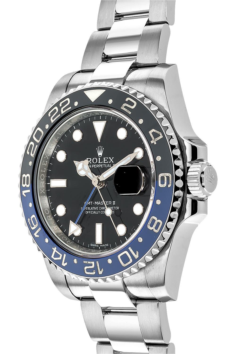 gmt master ii stainless steel automatic