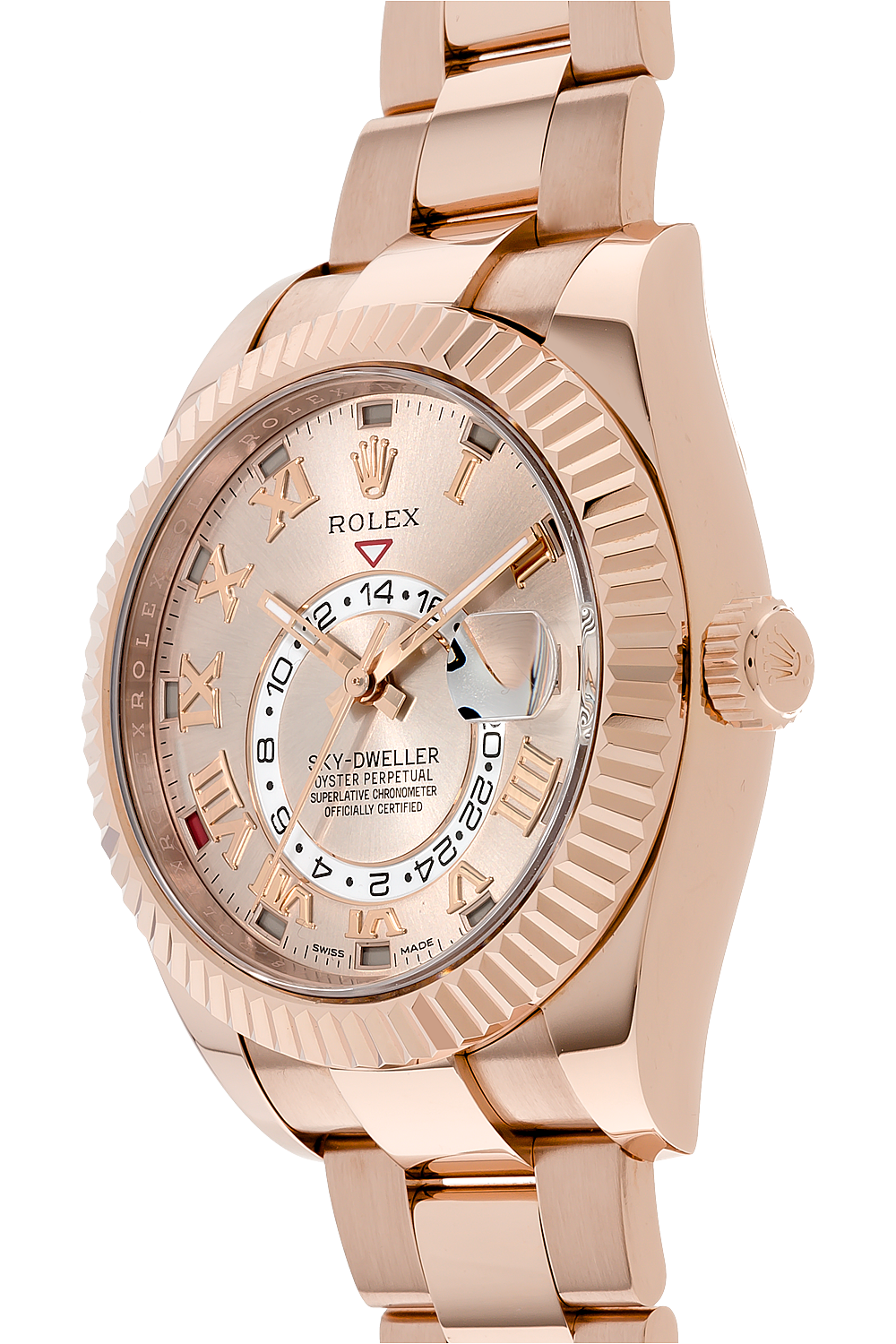 sky dweller rose gold automatic
