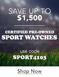 Certified Pre-Owned Sport Watches