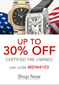 Save up to 30% on Certified Pre-Owned Watches