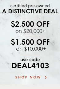 Up to $2,500 off Certified Pre-Owned Watches,  Shop Now