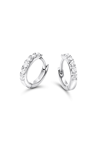 Creole in 18K White Gold