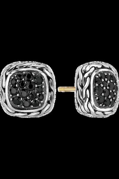 Classic Chain Silver Lava Earrings